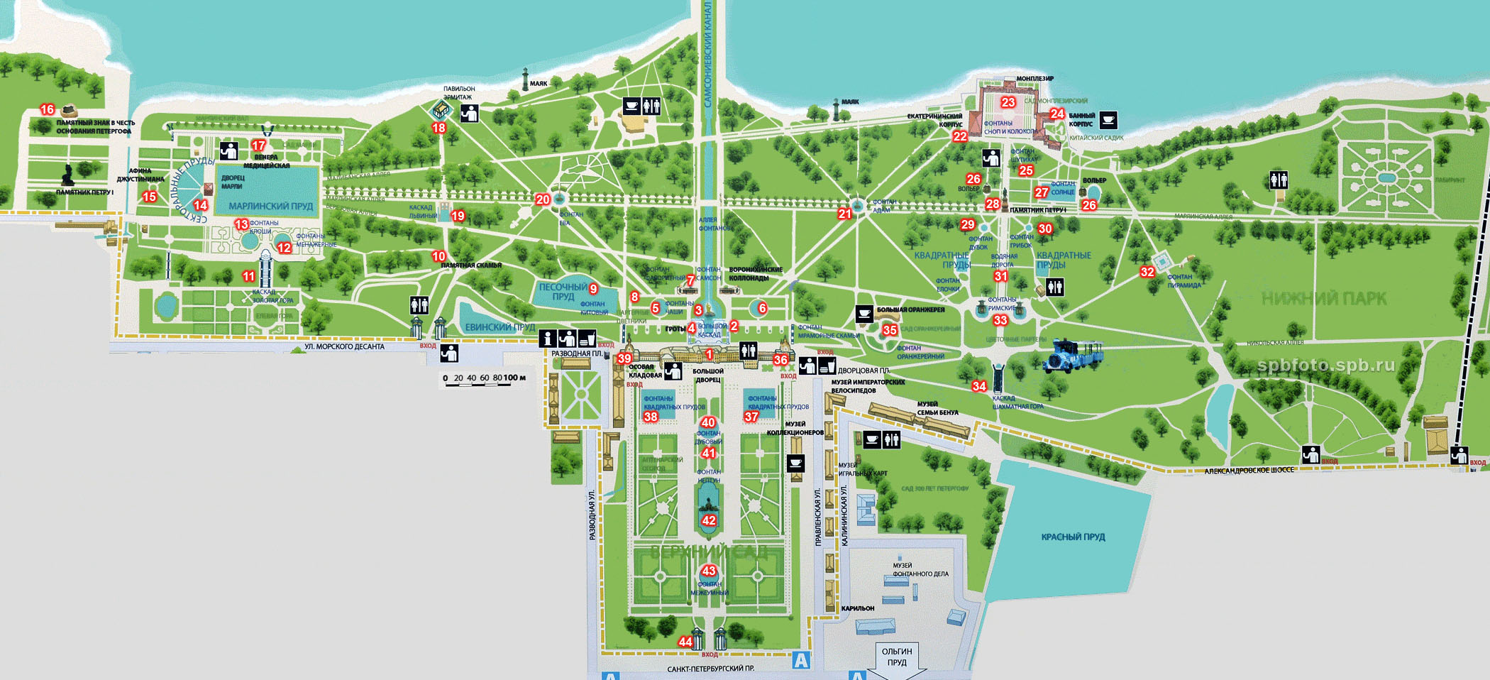 Петергоф схема парка лабиринт